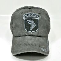 U.S. ARMY 101st AIRBORNE GRAYISH CAP HAT LOW PROFILE 100% COTTON ADJUSTABLE BACK