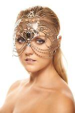 Silver Metal Masquerade Mask Queen Heroine Goddess Crown Prom Headpiece