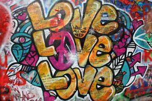 Graffiti Kunst Kunstwerk Poster Kunstdruck P1262