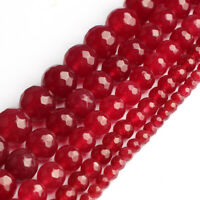 Red Chalcedony Stone Round Loose Beads for Jewelry Making Diy 4/6/8/10mm 15''