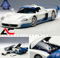 AUTOART 75801 1:18 MASERATI MC12 ROAD CAR PRESENTATION PEARL WHITE SUPERCAR