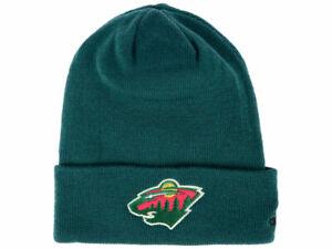MINNESOTA WILD GREEN NHL VTG KNIT CUFFED BEANIE SKI WINTER CAP HAT NWT! ADIDAS