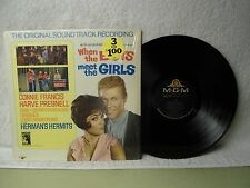 When The Boys Meet The Girls LP Very Clean In Shrink 1965 Soundtrack Mono Orig!