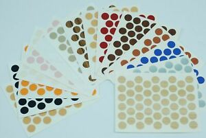 50 Self Adhesive Stickers Screw Hole Covers Stick On Furniture 14mm