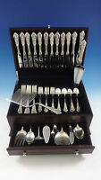 Rose Point by Wallace Sterling Silver Flatware Set 12 Service 60 Pcs Dinner Size