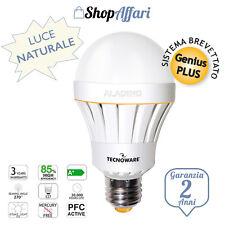 LAMPADA LAMPADINA  ALADINO LED di emergenza E27 10w 70w ANTI BLACKOUT LUCE NA...