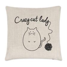 Palla di filato Crazy Cat Lady Lino Copricuscino-Cuscini divertenti gattino