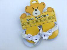 Build a Bear White Flower Flip-Flops Shoes for Teddy Bears - NEW