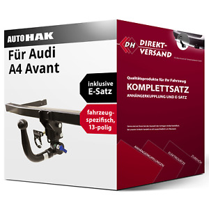 Für A4 Avant Typ 8W5/B9 (Auto Hak) Anhängerkupplung abnehmbar + E-Satz 13pol top