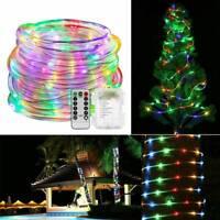 12M 120 LED corde bande tube fée guirlande lumineuse Noël jardin étanche exté SH