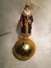 Patricia Breen Sojourning Santa Weather Vane Ornament 1996 Gold Burgundy & Tag