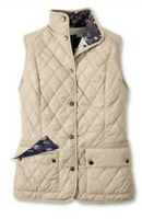 New Barbour Saddleworth Gilet Vest Size 14 Pearl Quilted $129