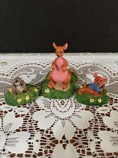 Disney Tiny Kingdom Winnie the Pooh Kanga Roo Gopher Figurine Lot