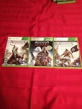 Assassins Creed III, Revelations & Black Flag Xbox 360- L@@K