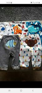 New Embroidered baby Boys Pants/trousers/joggers/Pyjamas Bottoms 3months. 5pack