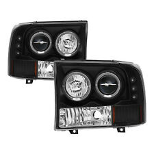 SPYDER PRO YD FF25099 1P G2 BK Pair LED Halo Projector Headlights for F250 SD