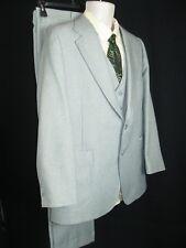 "Vtg. Mens Johnny Carson 3 Piece Green Poly Jacket 39 Suit pants 38"" x 30"" Euc!"