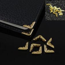 50Pcs Gold Metal Book Corner Frame Protector Folder Albums Tutamen Scrapbook DIY