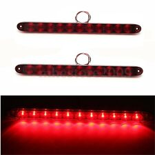 "2x 15"" Red 11LED Trailer Truck RV Stop Tail Turn Brake Light Bar Waterproof NEW"