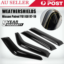 4x Weathershield Weather Shields Window Visor for Nissan Patrol Y61 GU 97-19 AU