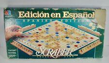 Milton Bradley Scrabble EN ESPAÑOL SPANISH EDITION 1989 Complete Vintage Rare