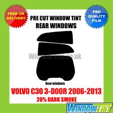 Volvo C30 3-door 2006-2013 20% dunkel hinten Vorgeschnittene Scheibentönung