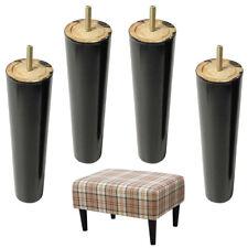 Sofa Legs 4pcs Wood Funiture Legs Sofa Cabinet Feet Relacement Cone 8''