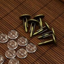 10 Sets Brass Cufflinks Tray Settings for Picture Cuff Button Making Jewelry DIY