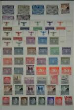 GERMANY OCCUPIED TERRITORIES STAMPS SELECTION ON 2 SIDES OF STOCK CARD  (F45)