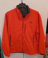 The North Face Apex Soft Shell Jacket Hooded Windbreaker Mens Size XXL Orange