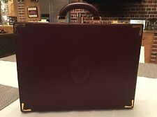 Must de Cartier VALIGETTA IN PELLE BORDEAUX VINTAGE