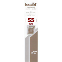 Bandes Hawid simple soudure 210 x 55 mm pour timbres-poste.