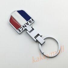 Motor Parts Key Chain Holder Ring France FR Flag Badge Logo Emblem Car Trim Gift