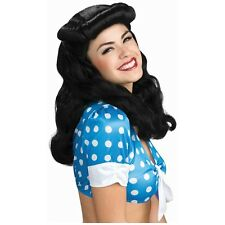 40s Glam Wig Bettie Page Rockabilly Costume Accessory Adult Halloween