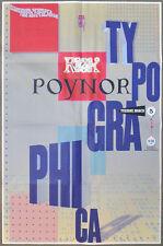 2002 Rick Poynor TYPOGRAPHICA Presentation AIGA New York Ch. PROMOTIONAL Poster