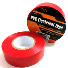 1 x RED ELECTRICAL PVC INSULATION / INSULATING  TAPE 19mm x 20m FLAME RETARDANT
