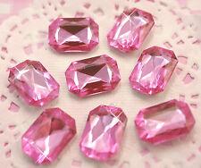 10 x Rosa Esmeralda PEDRERÍA Cabujones 18mm Cristales Deco-den - VENDEDOR GB