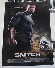 Snitch Original 11x17 Movie Poster The Rock Dwayne Johnson Ric Roman Waugh 2013