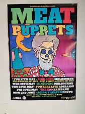 MEAT PUPPETS 2014 Australian Tour Poster A2 Nirvana MTV Unplugged Rat Farm *NEW*