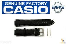 CASIO Edifice EF-502L-7AV 15mm Original Black Leather Watch Band Strap