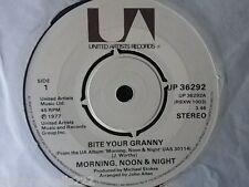 "VINYL 7"" SINGLE - BITE YOUR GRANNY - MORNING NOON & NIGHT - UP36929"