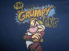 "Disney Grumpy Dwarf ""I'm The Grumpy One"" Navy Graphic Print T Shirt - M"