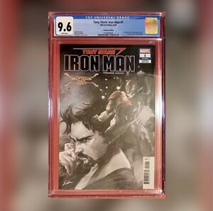 TONY STARK : IRON MAN #1 LGY 601 Partial Sketch Variant Premiere Edition CGC 9.6