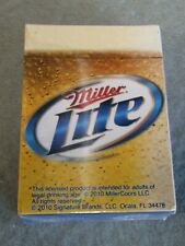 Miller Lite Beer Playing Cards Sealed Deck 2010