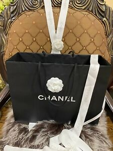 Large Authentic Genuine Original Chanel Paris Paper Shopping Carrier Gift Bag