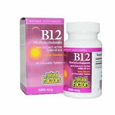 Vitamin B-12 METHYLCOBALAMIN 5000mcg x 60 Tablets, Natural Factors