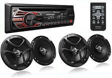 PACKAGE PIONEER DEH-150MP Car Stereo CD Receiver + 2 PAIRS JVC CS-J620 Speakers