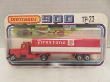 Matchbox SuperFast 900 1978 Long Haul Firestone Semi Truck Trailer TP-23 England