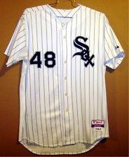 CHICAGO WHITE SOX ZACH STEWART WHITE PINSTRIPE 2011 MLB JERSEY