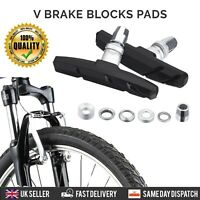 2 x PAIRS V BRAKE BLOCK PADS SHOES MOUNTAIN BIKE BMX HEX NUTS AND SPACERS INC
